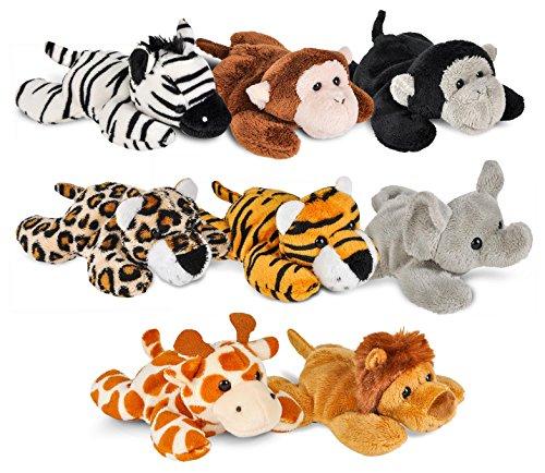 Wildlife Tree Mini Small Stuffed Animals Bundle Of Zoo Animal Toys